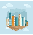 city concept in flat style vector image