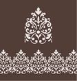 border frame with damask ornament vector image vector image