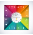 infographic square template with 8 options vector image