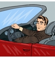 Successful Businessman in Luxury Car vector image