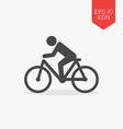 Man rides a bicycle icon Flat design gray color vector image