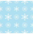 Seamless Pattern with White Snowflakes vector image