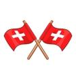 Switzerland flags icon cartoon style vector image