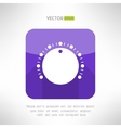 Volume knob icon in clean and simple modern flat vector image