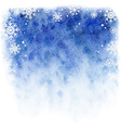winter watercolor background Blue sky with falling vector image