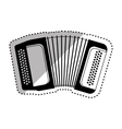 Accordion music instrument vector image