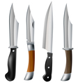 Knife set vector image vector image