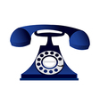 A telephone is placed vector image