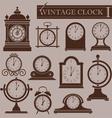 Vintage clock I vector image vector image