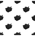 shopping basket full of groceries icon in black vector image
