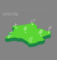 map france isometric concept vector image