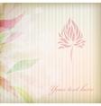 Vintage flower on background vector image