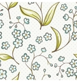 Beautiful seamless pattern with Forget-me not vector image