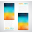 Flyer template header design vector image