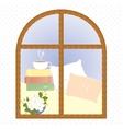 light window city romance coffee break vector image