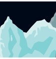Mountain landscape glaciers flat background vector image