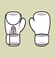boxing gloves5 vector image
