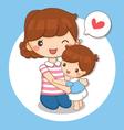boy love his mom vector image