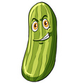 Cucumber with a face vector image
