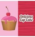 delicious cupcake design vector image