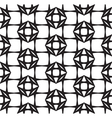 Diamonds Black and White Abstract Seamless Pattern vector image