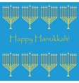 Jewish holiday pattern hanukkah vector image