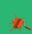 roller brush splash vector image