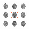 set of individual fingerprints for personal vector image