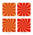 set of sunburst and swir vector image