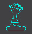 zombie hand line icon halloween and scary vector image