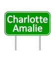 Charlotte Amalie road sign vector image