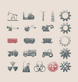 industrial icons for web vector image