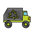 garbage truck vehicle vector image