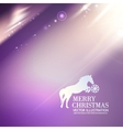 Horse for merry christmas greetings card vector image vector image