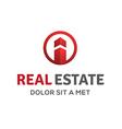 Letter I real estate sign logo icon design vector image