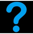 Question flat blue color icon vector image