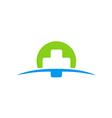cross medic abstract color logo vector image