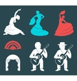 Set Silhouettes and Signs Flamenco vector image