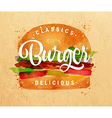 Burger kraft vector image