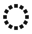 Loading circle sign icon simple style vector image
