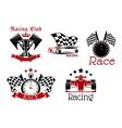 Motorsport symbols for sporting competition design vector image vector image