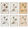 pour over coffee labels vintage set vector image