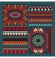Abstract tribal ethnic design elements vector image