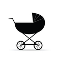 black baby carriage vector image
