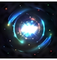 Blue glow light circle whirl vortex vector image