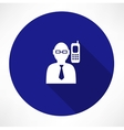 Businessman talking on a phone icon vector image