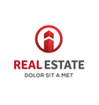 Letter I real estate sign logo icon design vector image