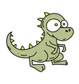 little dinosaur cartoon hand drawn image vector image