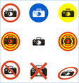 no photo icons set vector image