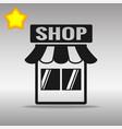 Shop store black icon button logo symbol vector image